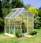 Lacewing� 6ft x 4ft Deluxe Heritage Ivory Aluminium Frame Greenhouse