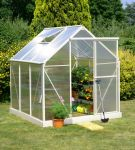 Lacewing� 6ft x 6ft Deluxe Cream Aluminium Frame Greenhouse