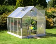 Lacewing� 6ft x 8ft Deluxe Heritage Ivory Aluminium Frame Greenhouse