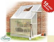 Lacewing™ 6ft x 4ft Deluxe Lean-To Heritage Ivory Aluminium Frame Greenhouse
