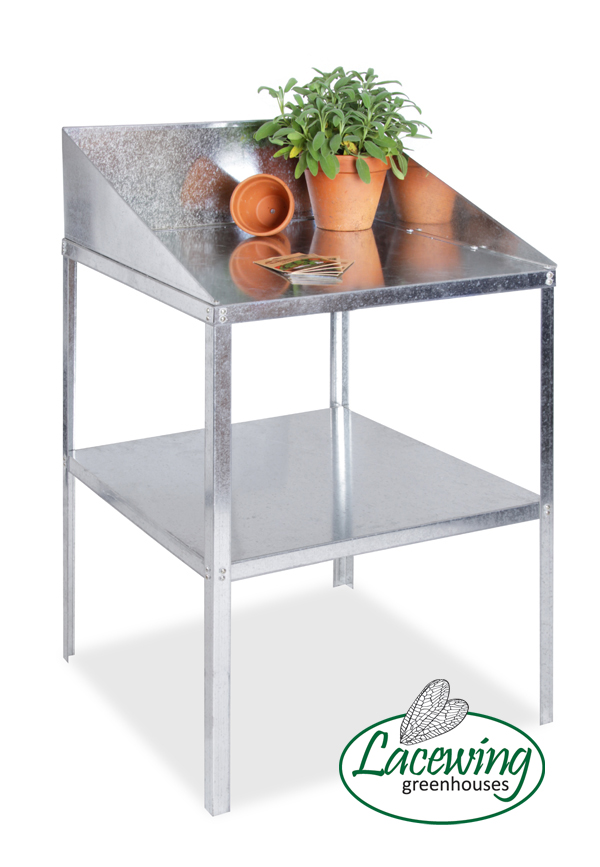 2' Lacewing� Traditional 2 Tier Greenhouse Workstation - Silver