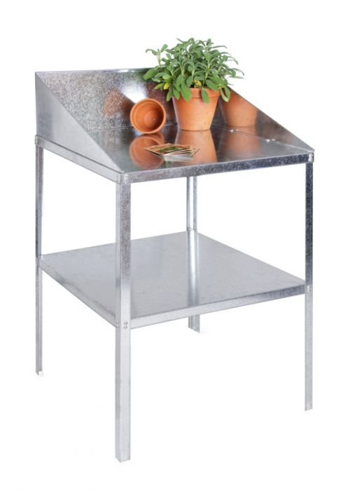 2' Lacewing™ Traditional 2 Tier Greenhouse Workstation - Silver
