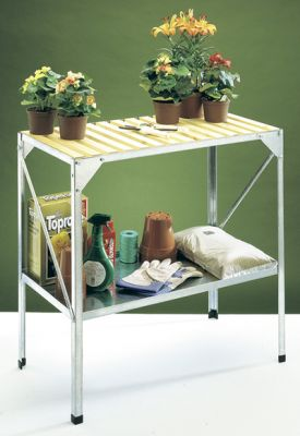 "2' 6"" Wooden Topped Greenhouse Seed Tray Stand"