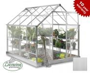 Lacewing™ 6ft x 8ft Deluxe Aluminium Frame Greenhouse with Toughened Glass
