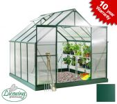 Lacewing� 8ft x 8ft Deluxe Aluminium Frame Double Door Greenhouse
