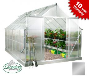 Lacewing™ 8ft x 12ft Deluxe Aluminium Frame Double Door Greenhouse