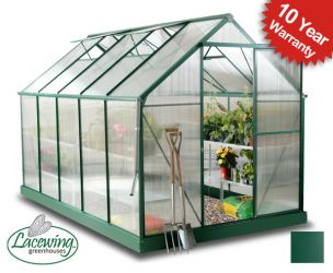 Lacewing™ 6ft x 10ft Deluxe Aluminium Frame Greenhouse