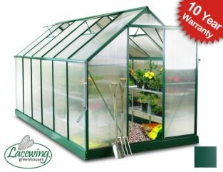 Lacewing™ 6ft x 12ft Deluxe Aluminium Frame Greenhouse