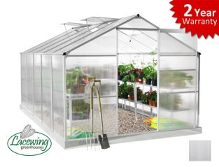 Lacewing™ 8ft x 10ft Essential Aluminium Frame Greenhouse with Base