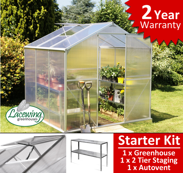Lacewing™ 6ft x 6ft Essential Greenhouse Starter Kit