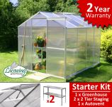 Lacewing� 6ft x 8ft Essential Greenhouse Starter Kit