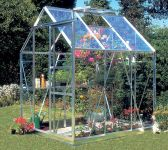 Eden Countess Aluminium Frame Greenhouse 5ft x 6ft Silver with Horticultural Glass