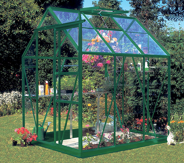 Eden Countess Aluminium Frame Greenhouse 5ft x 6ft Green with Toughened Glass