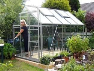 Eden Marquess Aluminium Frame Greenhouse 6ft x 10ft Silver with Polycarbonate Sheeting