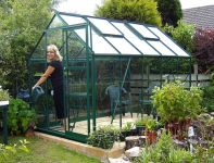 Eden Marquess Aluminium Frame Greenhouse 6ft x 10ft Green with Toughened Glass