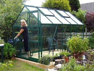 Eden Marquess Aluminium Frame Greenhouse 6ft x 10ft Green with Polycarbonate Sheeting