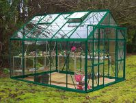 Eden Consort Aluminium Frame Greenhouse 8ft x 10ft Green with Toughened Glass
