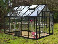 Eden Consort Aluminium Frame Greenhouse 8ft x 10ft Black with Horticultural Glass