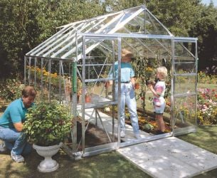 Eden Viscount Aluminium Frame Greenhouse 8ft x 12ft Silver with Horticultural Glass