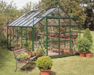 Eden Viscount Aluminium Frame Greenhouse 8ft x 12ft Green with Horticultural Glass