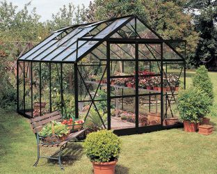 Eden Viscount Aluminium Frame Greenhouse 8ft x 12ft Black with Toughened Glass