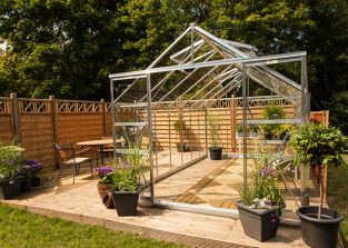 Eden Regal Aluminium Frame Greenhouse 8ft x 14ft Silver with Toughened Glass