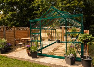 Eden Regal Aluminium Frame Greenhouse 8ft x 14ft Green with Horticultural Glass