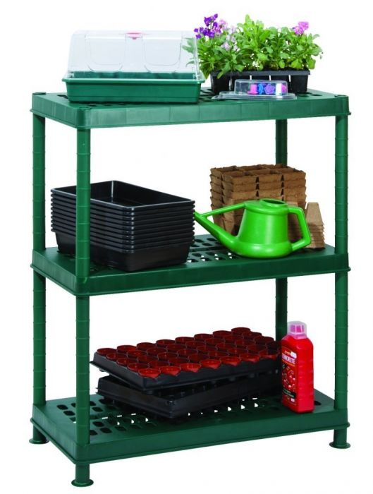 "2' 7"" 3 Tier Easy-Store Modular Greenhouse Staging"
