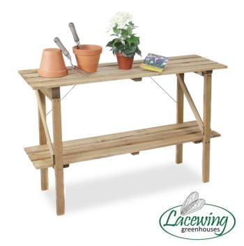 4' Lacewing™ 2 Tier Easy Store Greenhouse Staging