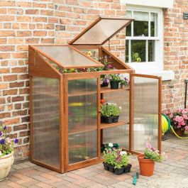 H1.44m (4ft 9in) Hardwood Mini Greenhouse Cold Frame FSC® by Rowlinson®