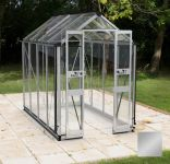 Eden Birdlip Zero Threshold™ Aluminium Silver Frame Double Door Greenhouse 4ft x 4ft