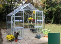 Eden Blockley Zero Threshold™ Aluminium Frame Double Door Greenhouse 8ft x 14ft in Green