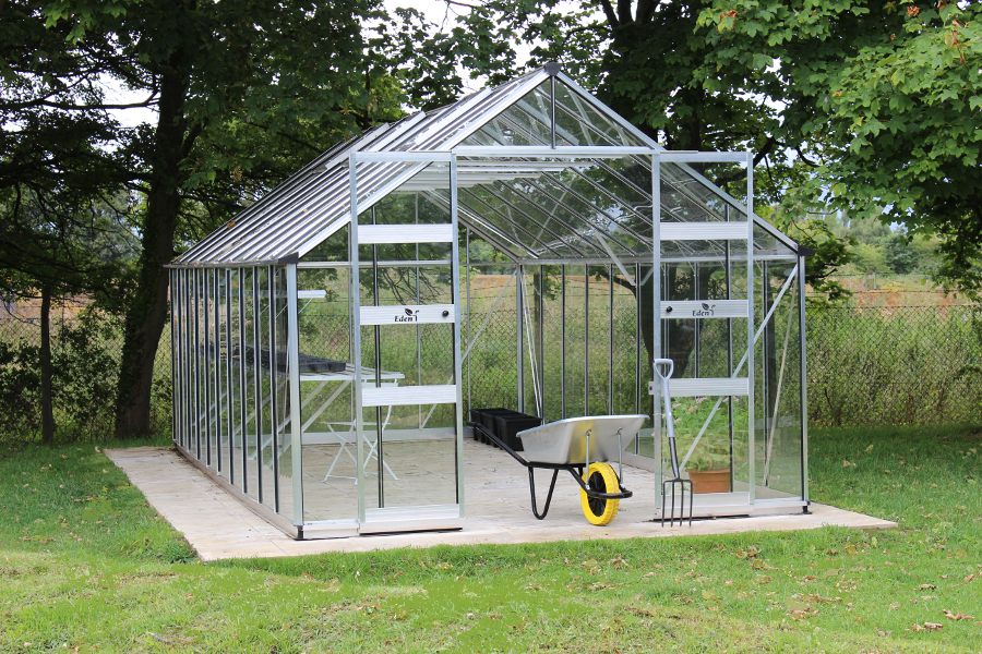 Eden Bourton 1012 Mill Toughened Long Pane Greenhouse - 273cm x 317cm