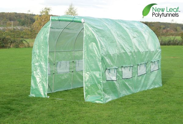 4m x 2m (13ft 1in x 6ft 7in) Polytunnel Galvanised Frame by New Leaf™