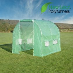 2.5m x 2m (8ft 2in x 6ft 7in) Premium Polytunnel Galvanised Frame by New Leaf™