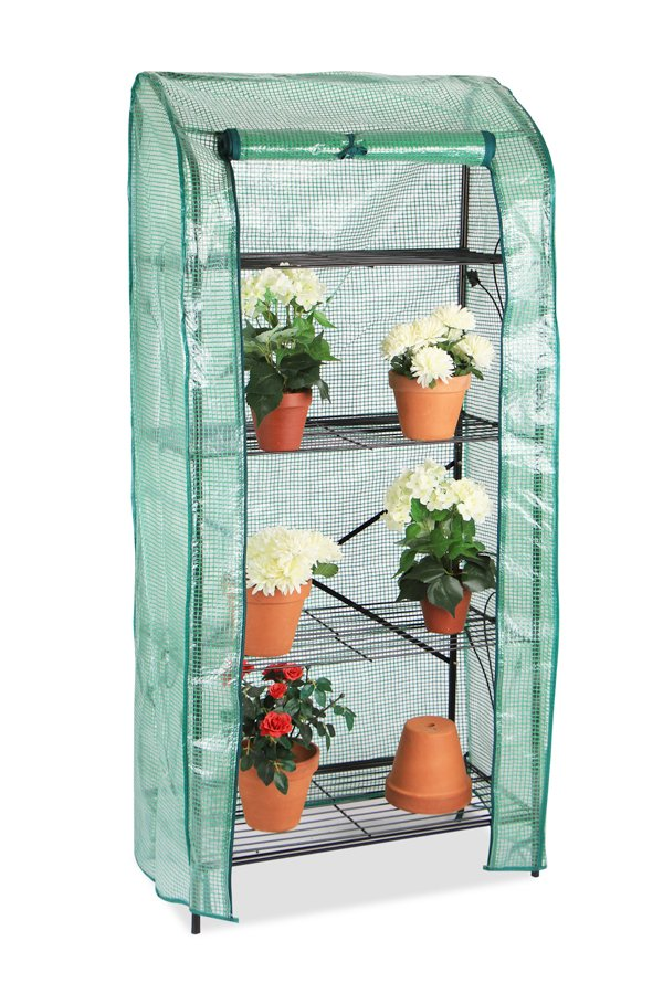 Lacewing 4 Tier Mini Greenhouse Plant Stand with Removable Cover 159cm x 70cm