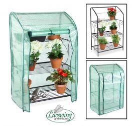 Lacewing™ 3 Tier Mini Greenhouse Plant Stand with Removable Cover