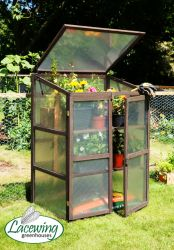 Lacewing™ 2ft6 x 1ft10 Double Door Wooden Cold Frame Growhouse