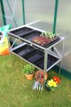 "2' 6"" Lacewing� 2 Tier 6 Tray Greenhouse Staging"