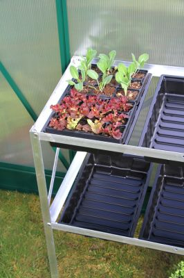 "2' 6"" Lacewing™ 2 Tier 6 Tray Greenhouse Staging"