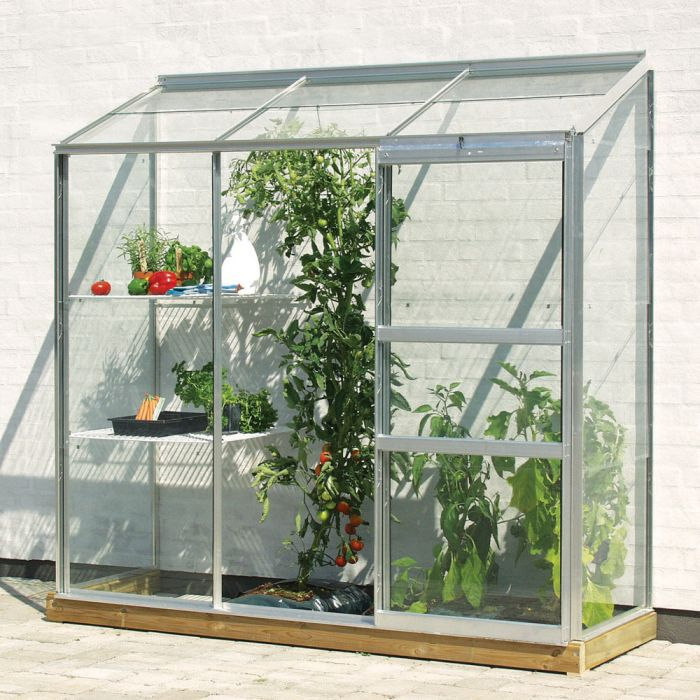 2ft x 6ft Ida 1300 Lean-To Greenhouse - Silver