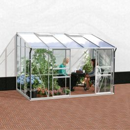 6ft x 10ft Ida 6500 Lean-To Greenhouse - Silver