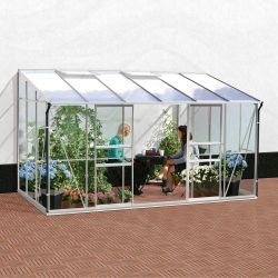 6ft x 12ft Ida 7800 Lean-To Greenhouse - Green