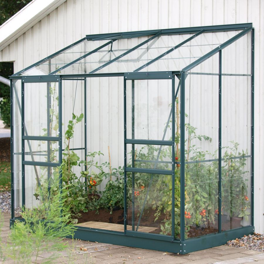 4ft x 8ft Ida 3300 Lean-To Greenhouse - Green