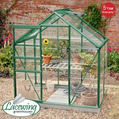 Lacewing™ 6Ft x 4Ft Cristal Polycarbonate Greenhouse Green Frame