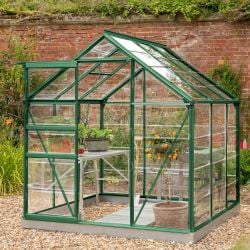 Lacewing™ 6Ft x6Ft Cristal Polycarbonate Greenhouse Green Frame