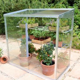 4ft Aluminium 3/4  3-tier Mini  Greenhouse