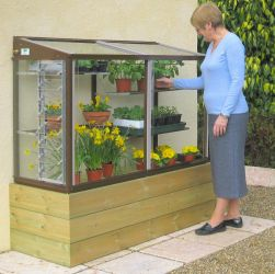 "Harlow 5'0"" Mini Lean-To Greenhouse with Shelves"