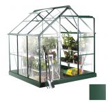 Lacewing� 6ft x 6ft Traditional Green Aluminium Frame Greenhouse
