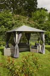 Steel Frame Gazebo in Vintage Grey 3x3m